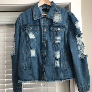 Oversized Jean Jacket (Size 12)